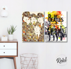 CONJUNTO KIT 2 QUADROS  BEATLES