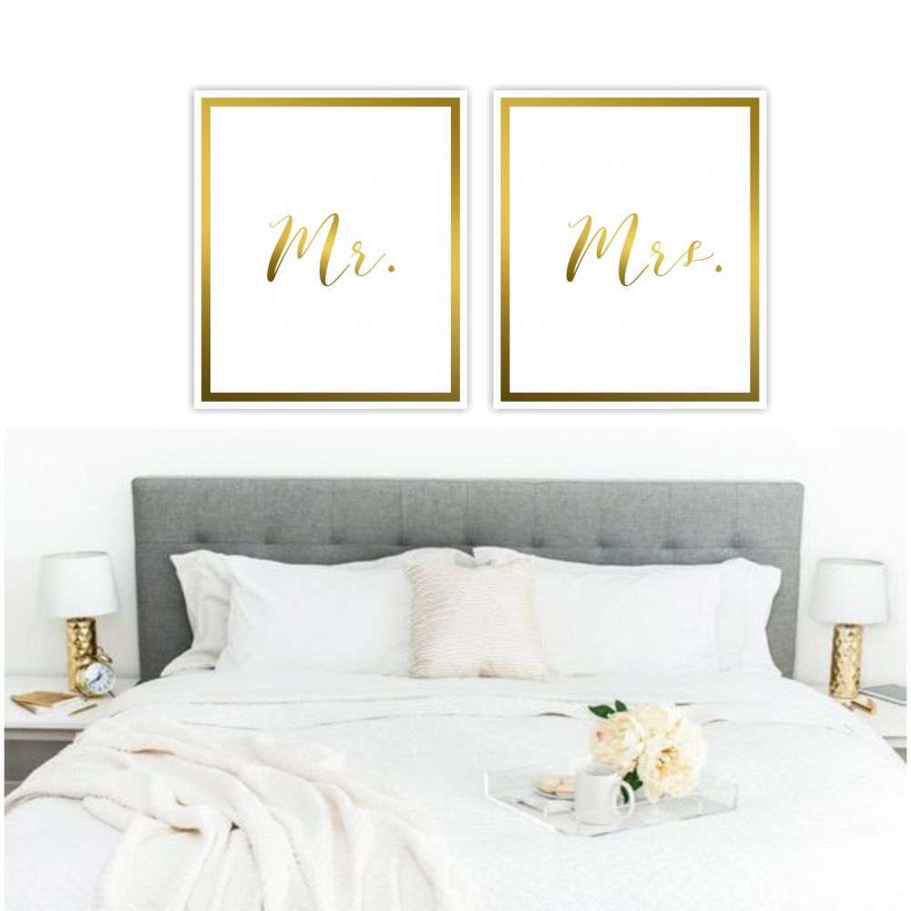 CONJUNTO KIT 2 QUADROS  MRS GOLD